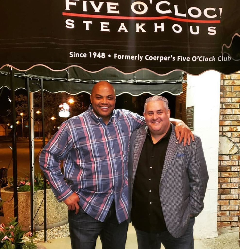 Legendary Basketball Star, Charles Barkley visits the Five O'Clock Steakhouse