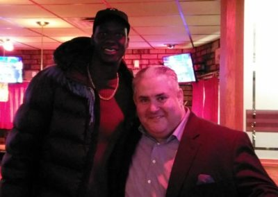 Detroit Pistons Center Thon Maker visits the Five O'clock Steakhouse